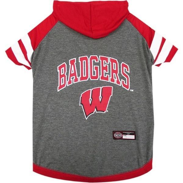 Wisconsin Badgers Pet Hoodie T - Furry Friend Frocks