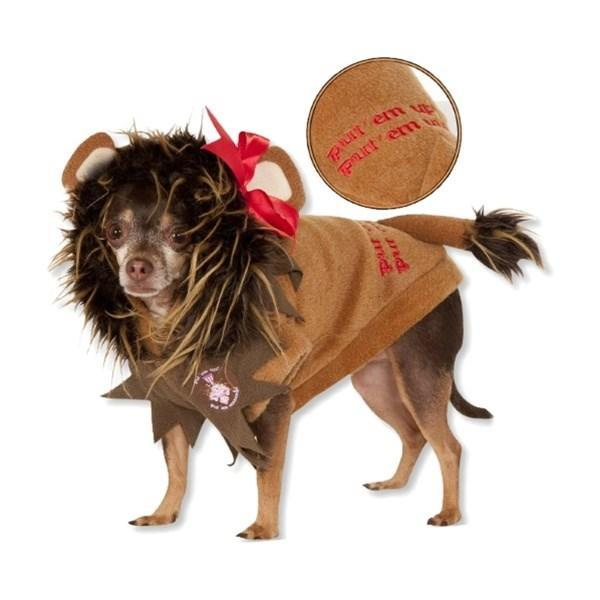 Wizard Of Oz Cowardly Lion Pet Costume - Furry Friend Frocks