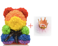 Load image into Gallery viewer, Rainbow Rose Bear