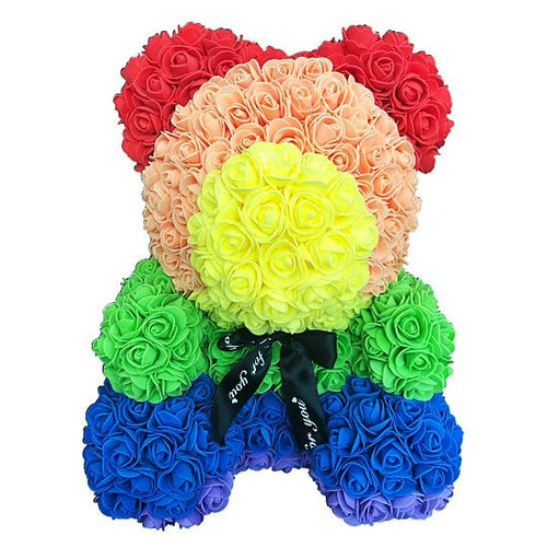 Rainbow Rose Bear