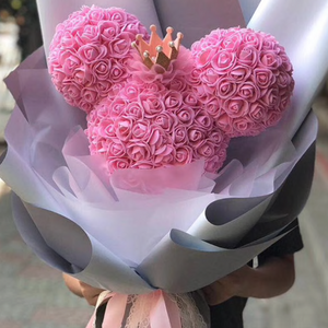 minnie bouquet rose bear