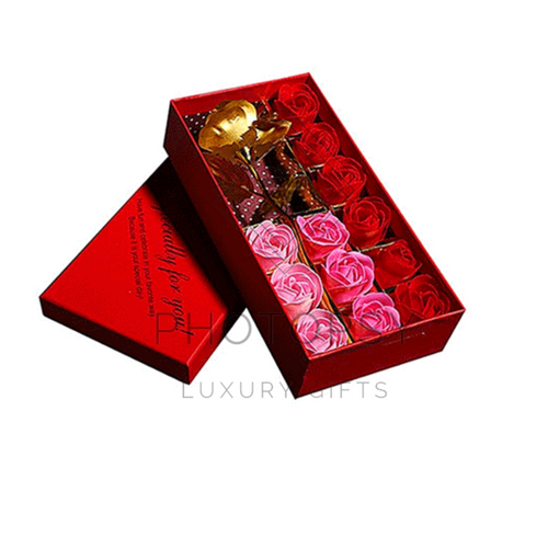 24K Rose Gold Plated Soap - 12PCS Gift Box!
