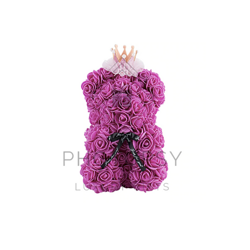 25CM Princess Rose Bear
