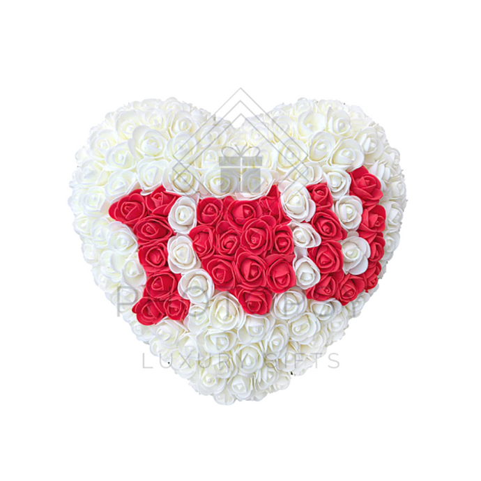 Personalised Love Heart Roses