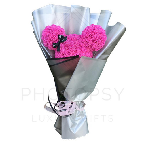 Bouquet de roses Minnie Mouse