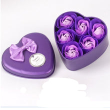 Load image into Gallery viewer, Heart Scented Bath Rose Petals - 6PCS Soap Gift Box