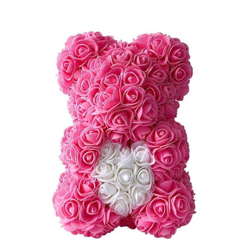 Personalised Love Heart Rose Bear