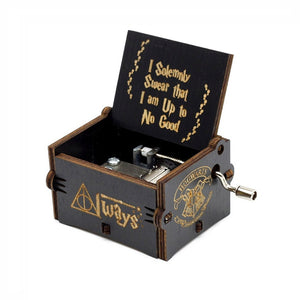 Miniature Wooden Music Box