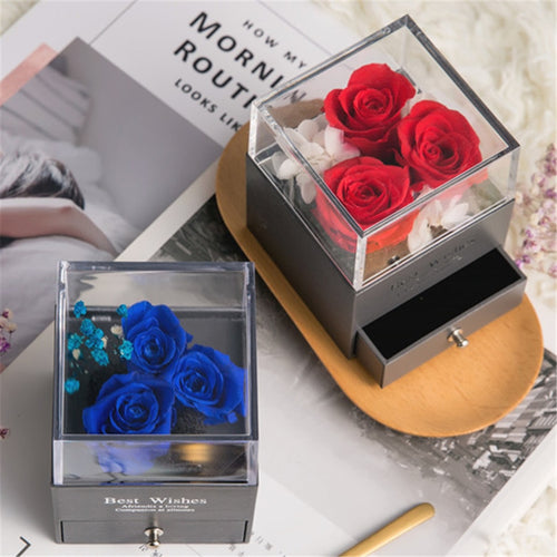 Eternal Roses In Acrylic Glass Box
