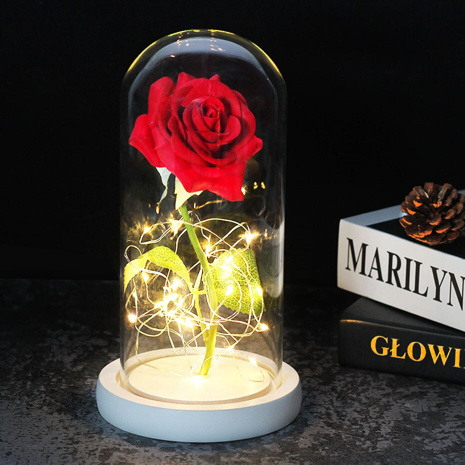 Enchanted Forever Rose In Glass