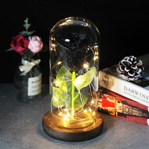 Enchanted Forever Rose en verre