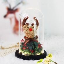Load image into Gallery viewer, Christmas Rose Reindeer in Glass Dome