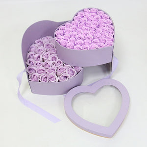 Double Layered Heart Shaped 99 Rose Bouquet