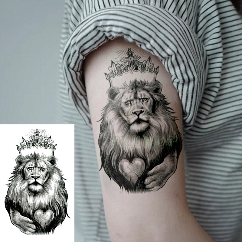 Waterproof Tatouage de Lion
