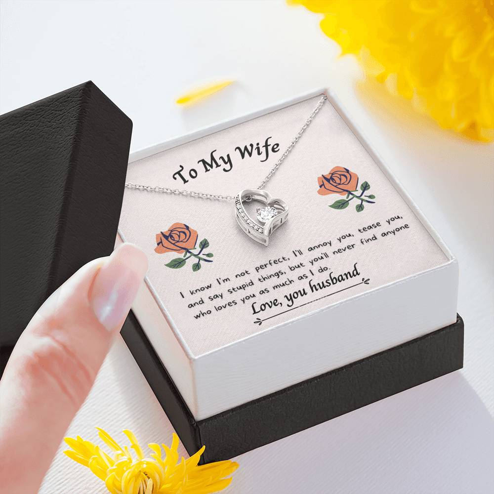 To My Wife --Love You As Much As I Do -- Necklace and Card