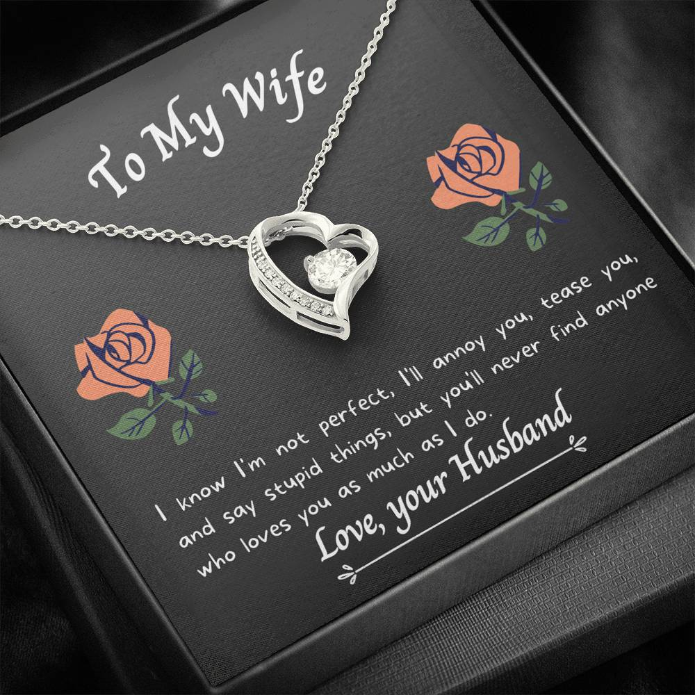 To My Wife - As Much As I Do - Necklace and Card