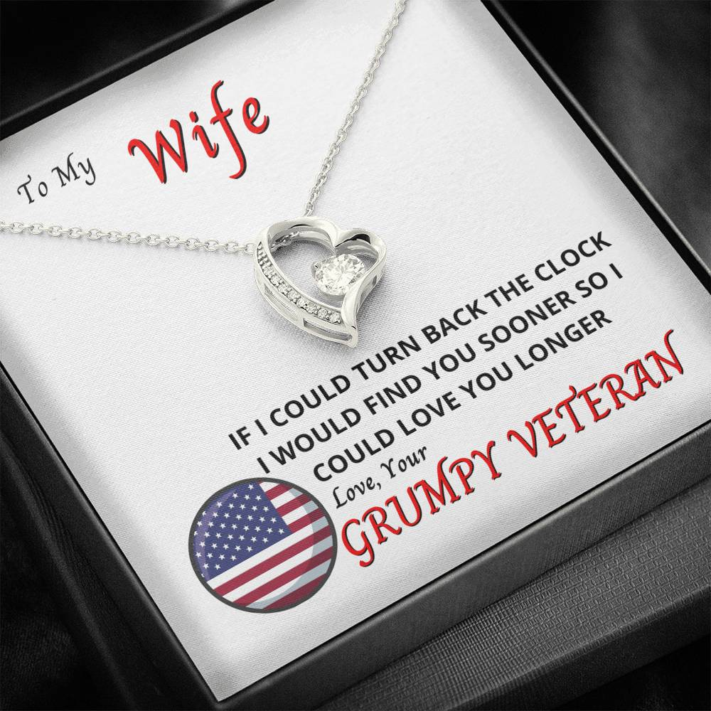 To My Wife - Find You Sooner - Necklace and Card
