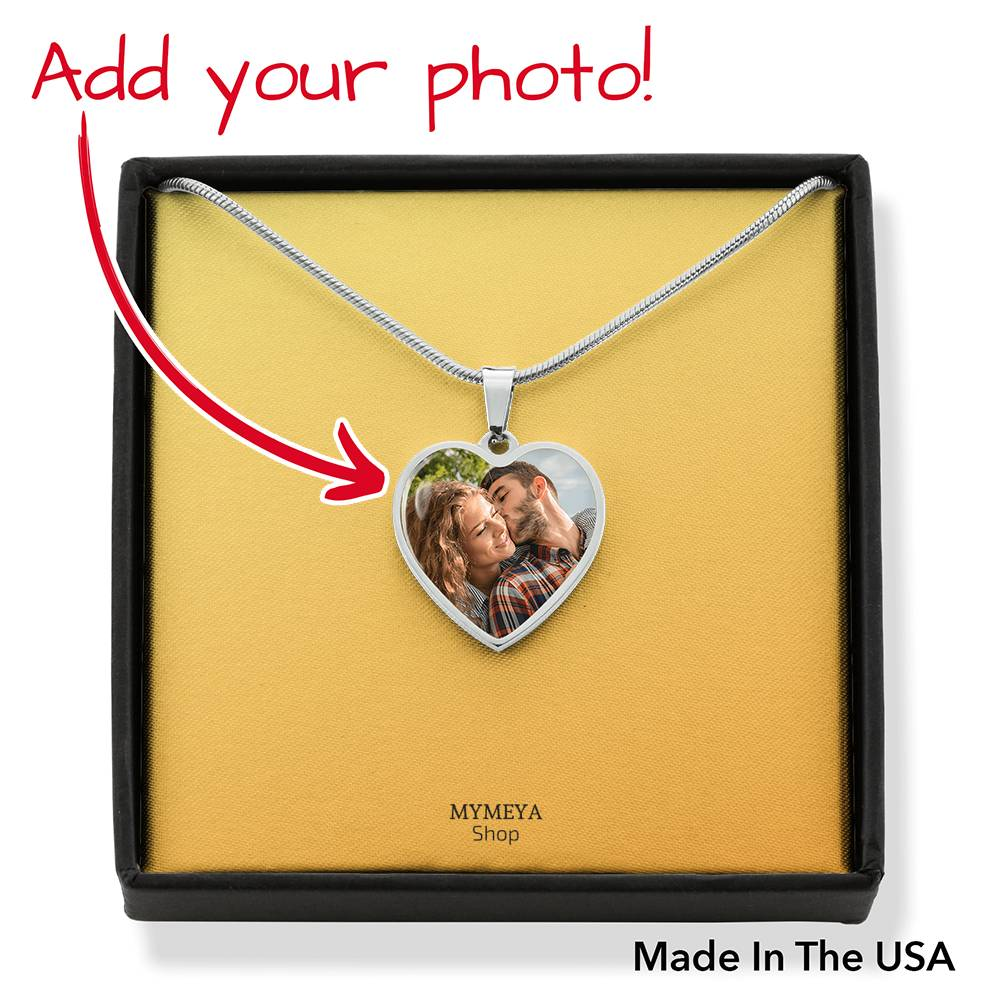 Photo Memorial Heart Necklace