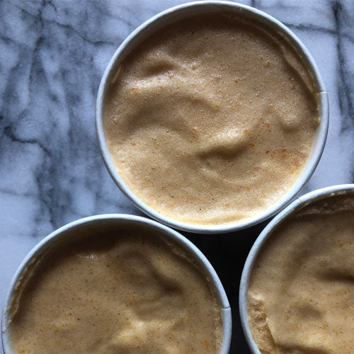 Roasted Peach Sorbet