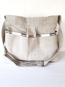Van Life Linen Diaper Bag Gender Neutral