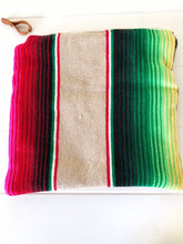 Load image into Gallery viewer, Ready to Ship! Serape and Leather Clutch