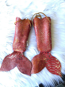 Leather Mermaid Purse for Kids