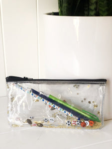 Play Ball!  Pencil Pouch Clear