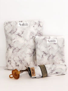 Marble Wet Bags Black & White