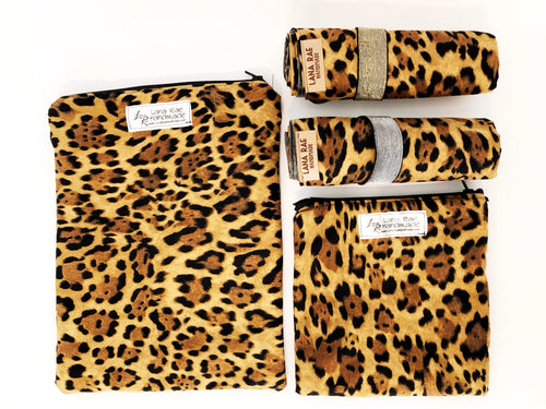Cheetah Wet Bags Leopard, Wipeable, Waterproof, Washable