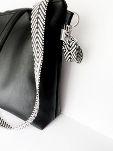All Black Vegan Leather Tote