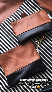 Colorblock Wristlet Sling Clutch
