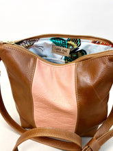 Load image into Gallery viewer, Peach & Brown Stripe Purse