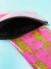 Load image into Gallery viewer, Vinyl Cheetah Pouch