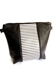 Monochrome Striped Stripe Purse