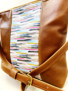 Abstract Lines Brown Stripe Purse