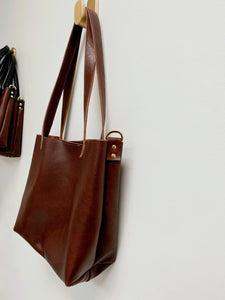 Bombshell Leather Tote Chocolate