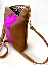 Load image into Gallery viewer, Pink is Hot Brown Stripe Purse