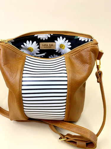 B&W Brown Stripe Purse