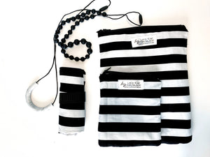 B&W Stripe Wipeable Changing Mat