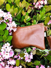 Load image into Gallery viewer, Brown  Wristlet Sling Clutch