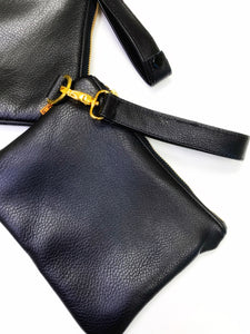 All Black Wristlet Sling Clutch