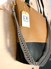 Load image into Gallery viewer, Colorblock Camel Vegan Stripe Tote