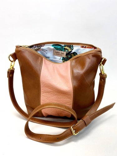 Peach & Brown Stripe Purse