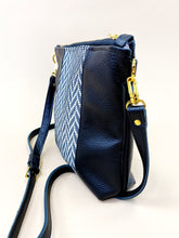 Load image into Gallery viewer, Herringbone Black Stripe Purse