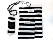 Load image into Gallery viewer, B&W Stripe Plaid Wet Bags