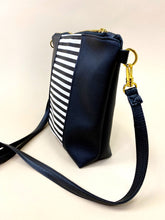 Load image into Gallery viewer, Vegan B&W Black Stripe Purse