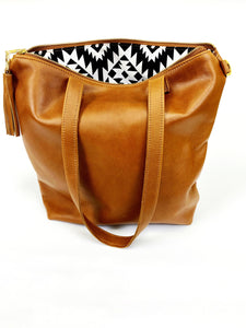Leather All Brown Minimalist Tote