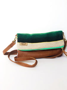 Serape and Leather Crossbody Purse