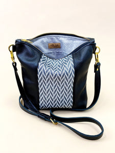 Herringbone Black Stripe Purse