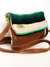 Load image into Gallery viewer, Serape and Leather Crossbody Purse